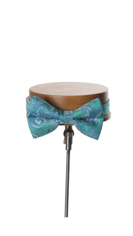 Come together paisley bow tie-green