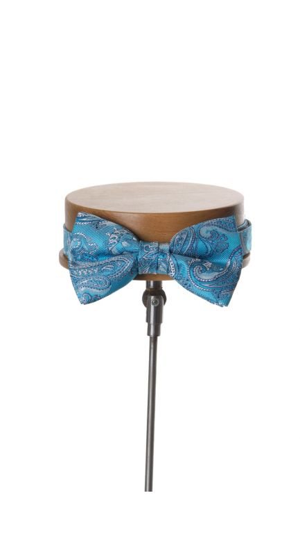 Come together paisley bow tie-turquoise