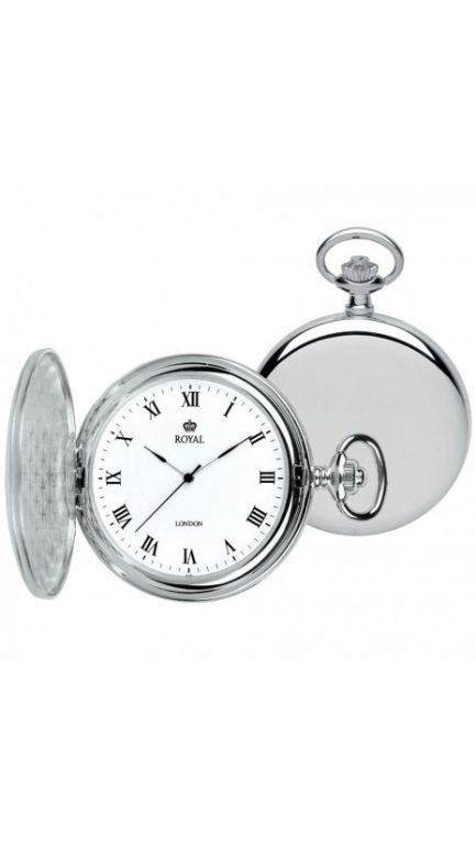 Royal London smooth case pocket watch & chain