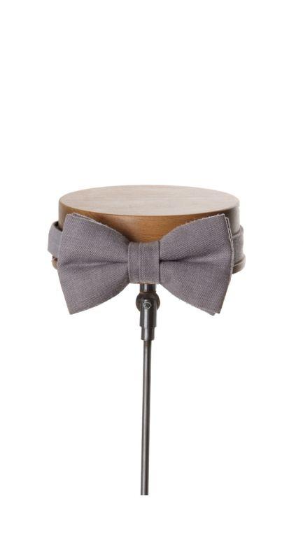 Ascot bow tie-grey