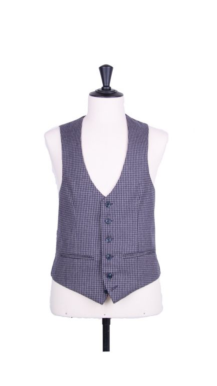 Country check scollop waistcoat