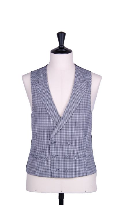 Dogtooth double breasted waistcoat