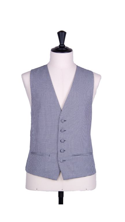 Dogtooth single breasted waistcoat