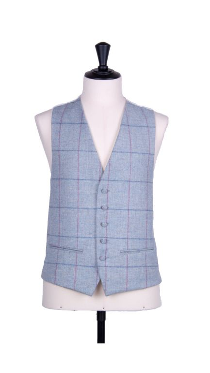 English tweed single breasted waistcoat