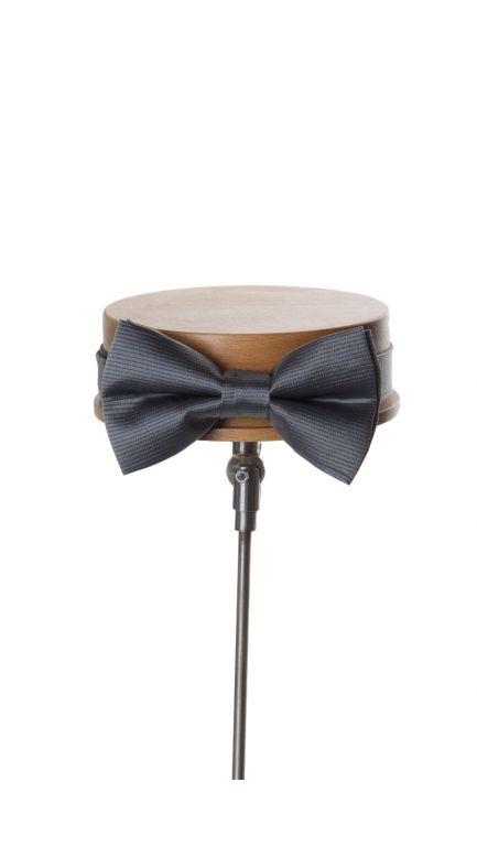Ribbed bow tie-grey