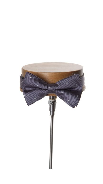 Spotted bow tie-grey