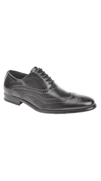 Oxford black brogue shoes - mens