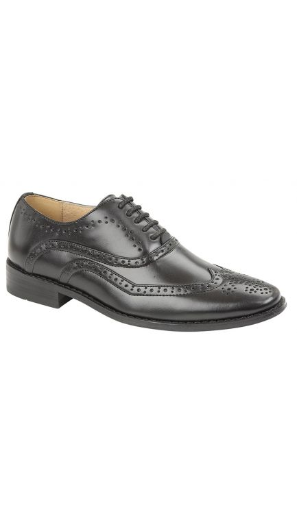 Oxford black brogue shoes - boys
