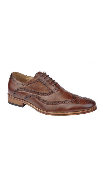 Oxford tan brogue shoes - mens