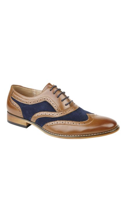 Brogue shoes - 2 tone - mens