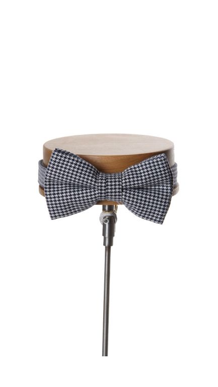 Dogtooth bow tie-navy