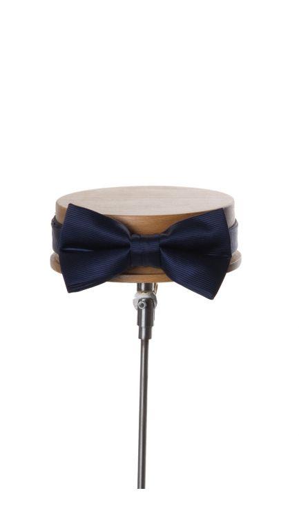 Ribbed bow tie-navy