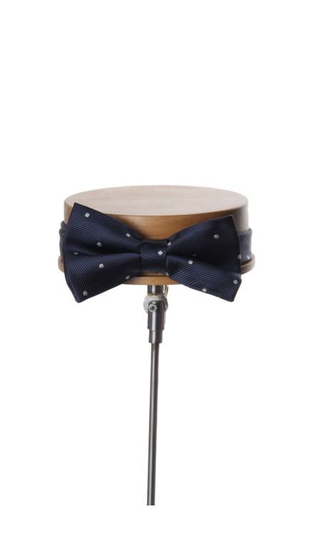 Spotted bow tie-navy