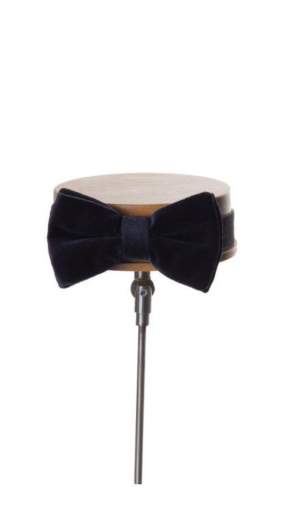 Velvet bow tie-navy