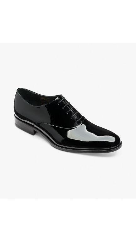 Loake black patent shoes