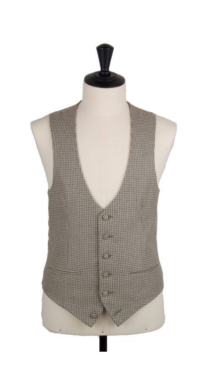 Poke hounds tooth scollop waistcoat