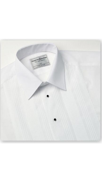 Regular collar evening shirt