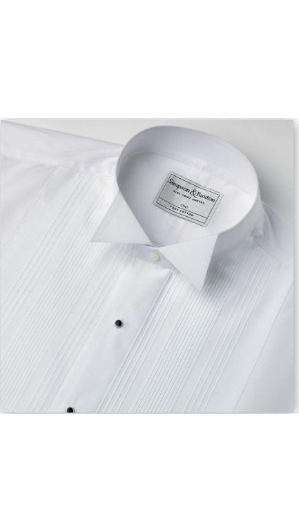 Wing collar evening shirt