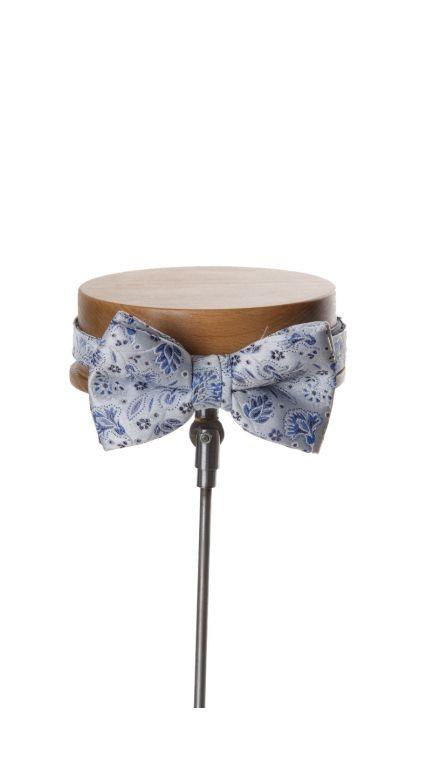 Debris small floral bow tie -royal blue