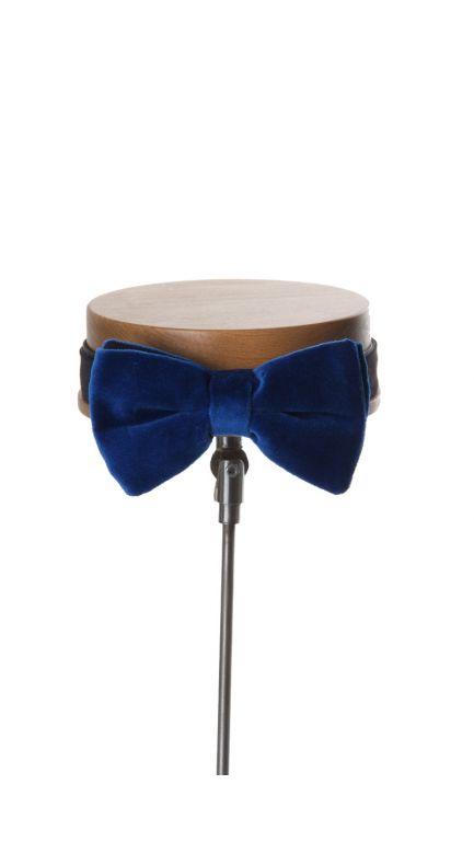 Velvet bow tie-royal blue