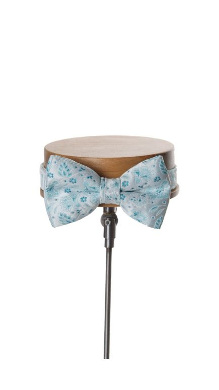 Debris small floral bow tie -turquoise