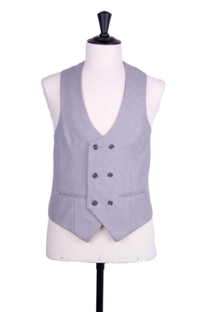 Ascot grey scoop DB waistcoat