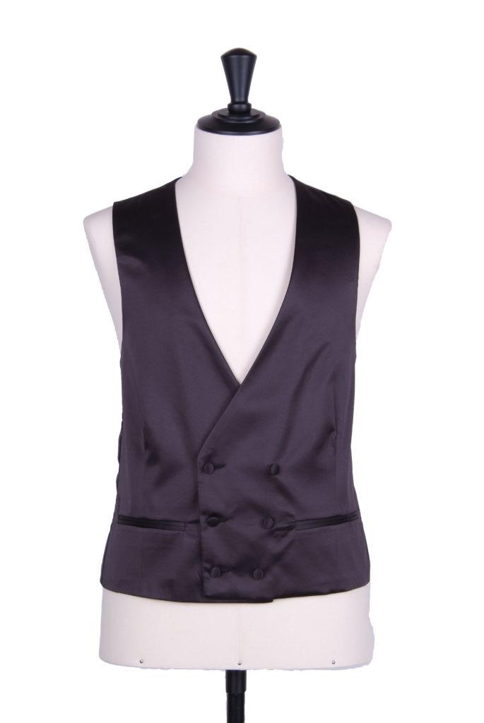 Duchess satin black CDB waistcoat