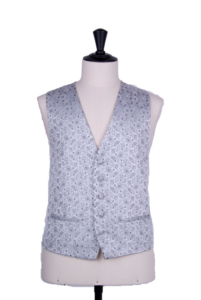 Small floral silver waistcoat