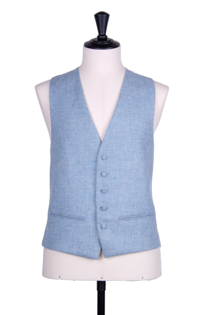 English tweed sky fleck SB waistcoat