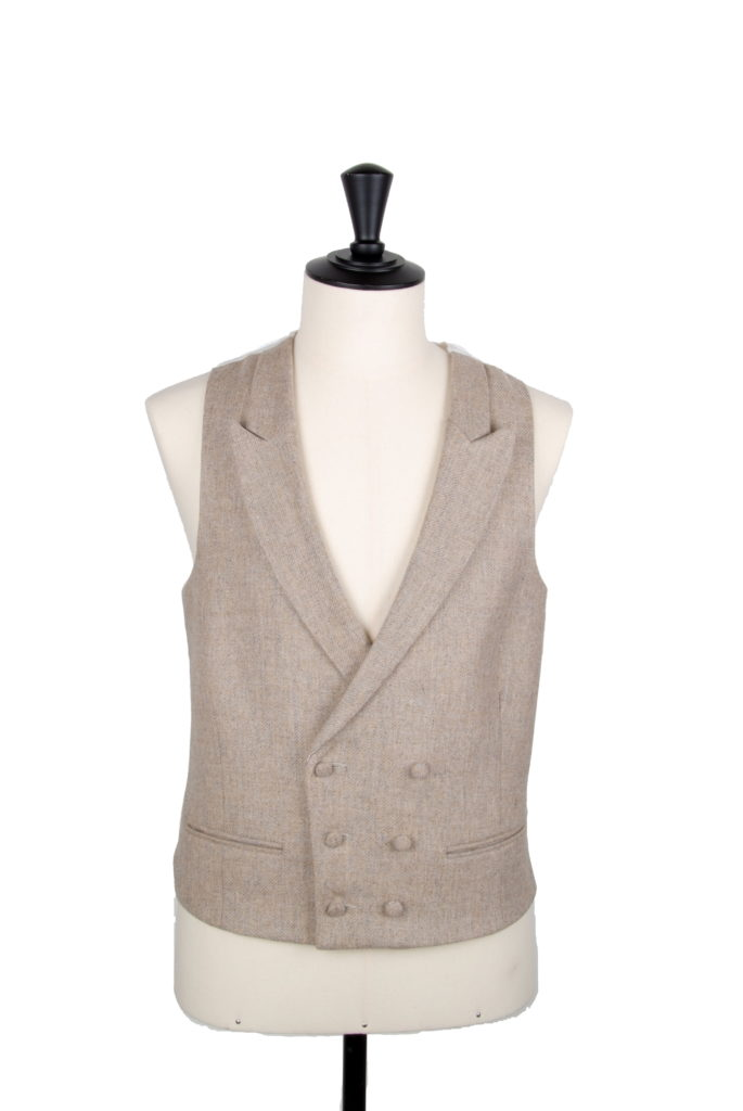 English tweed natural DB waistcoat