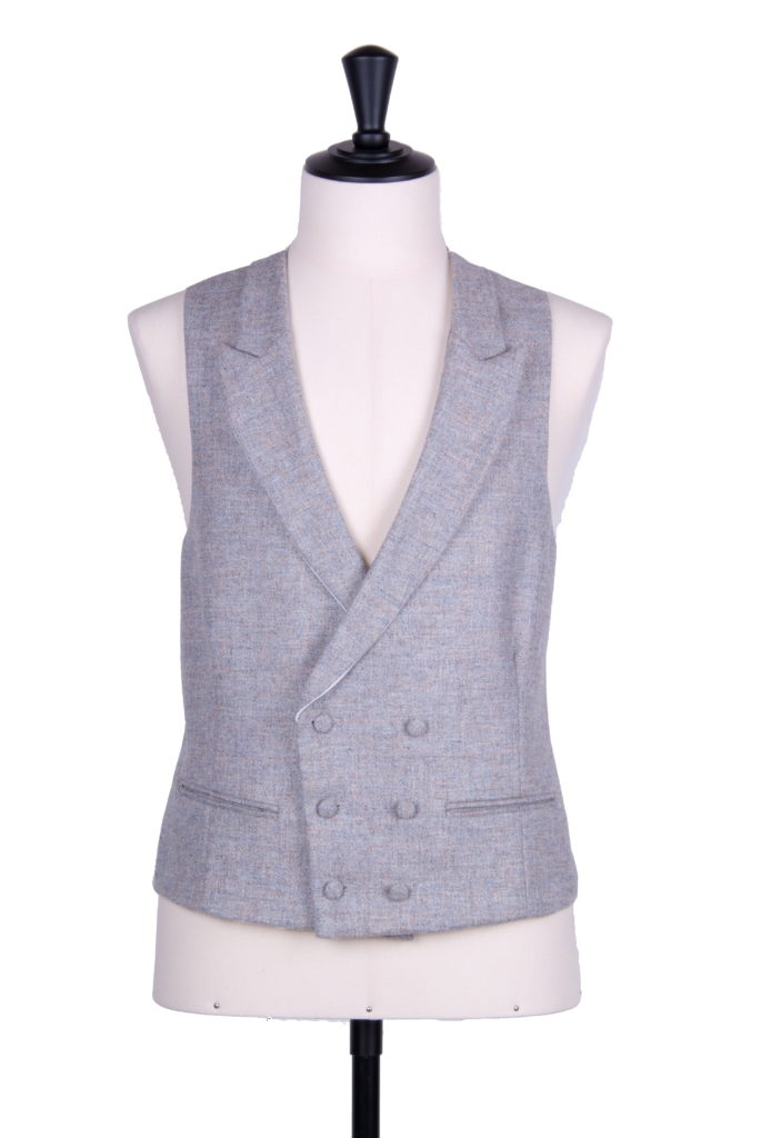 English tweed DB silver waistcoat