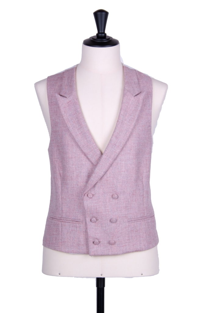 English tweed pink DB waistcoat