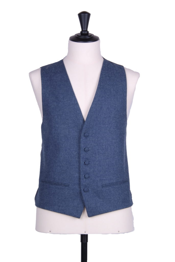 English tweed Flintstone check SB waistcoat